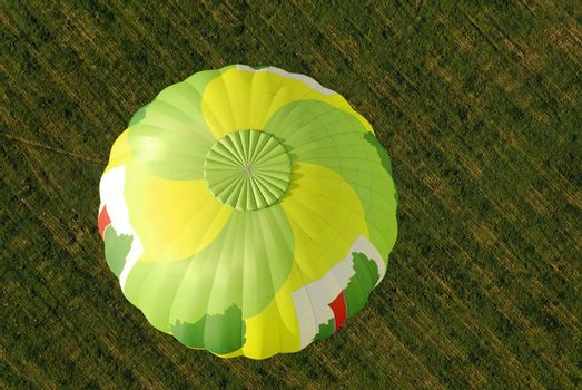 overview of a hot air balloon