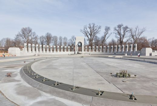 Monument and the World War II Memorial in DC