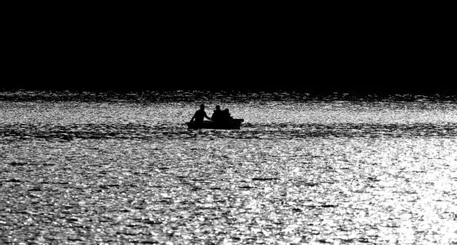 Boating Sillouette