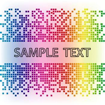 Vector abstract background. Rainbow mosaic tamplate.