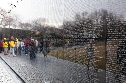 Vietnam War Memorial in Wahsington DC USA