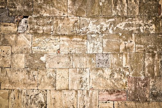 Old brick structured textured wall