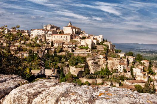 Provence village Gordes overlook