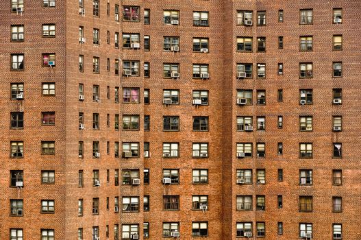 Residential building windows in New York