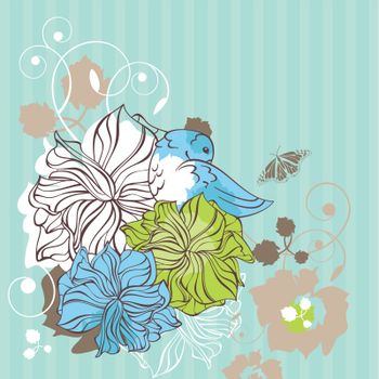 floral decorative card