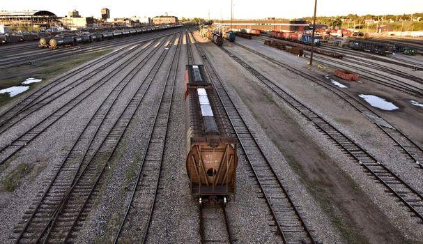 CP rail trainyard