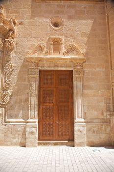close carved door
