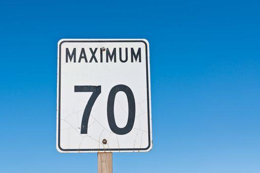Maximum 70 Sign
