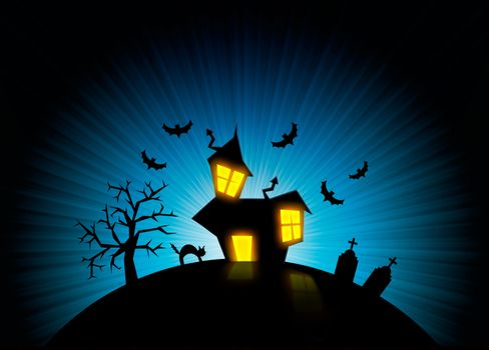 Halloween nightmare world background
