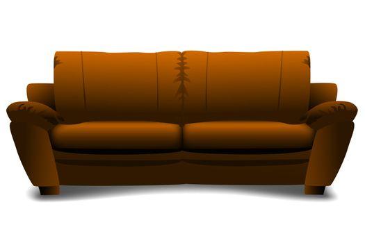 illustration of sofa on white background