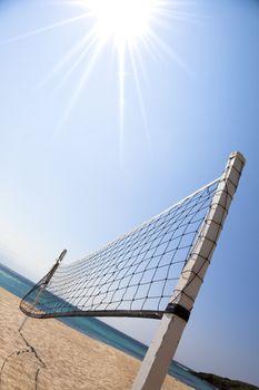 Beach Volleyball and sunlight