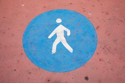 pedestrian paint ground sign