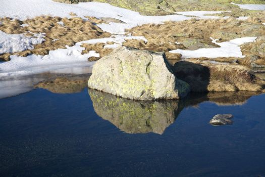 rock mountain mirror