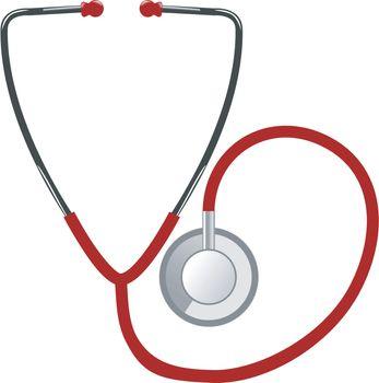 Illustration of medical stethoscope on white background