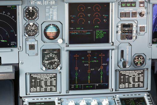 Aircraft cockpit dashboard