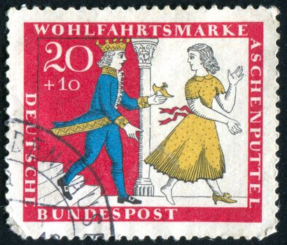 GERMANY - CIRCA 1951: stamp printed by Germany, shows Cinderella, circa 1951