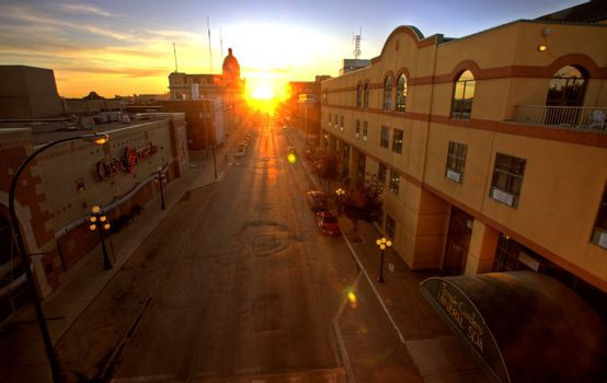 Sunset in Moose Jaw