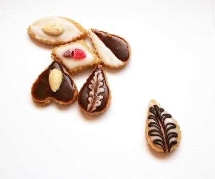 Christmas confectionery on white background