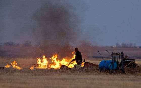 Controlled fire farm saskatchewan