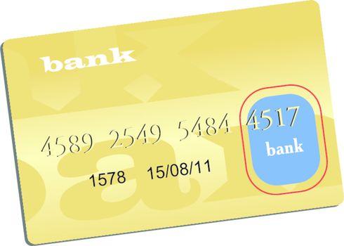 Illustration of golden credit card