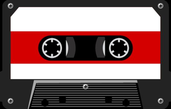 illustration of audio cassette
