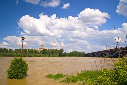 Vistula river flood