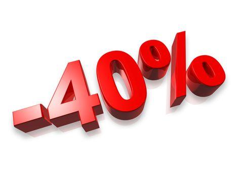 40% forty percent