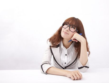 Young businesswoman are thinking about plan