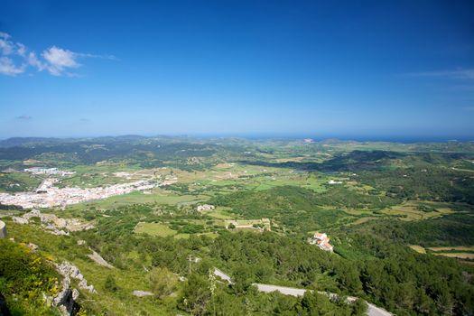 Es Mercadall village and coastline