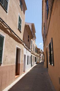pedestrian street at Ciutadella
