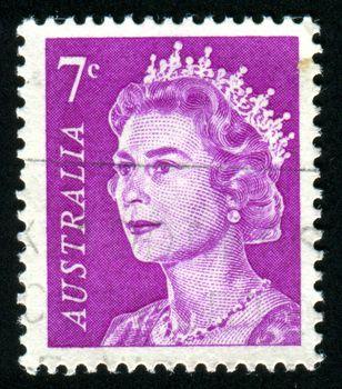 AUSTRALIA - CIRCA 1965: stamp printed by Australia, shows Queen Elizabeth II, circa 1965