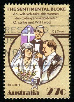 AUSTRALIA - CIRCA 1983: stamp printed by Australia, shows wedding, circa 1983
