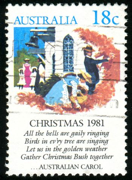 AUSTRALIA - CIRCA 1981: stamp printed by Australia, shows Christmas Bush, circa 1981
