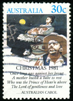 AUSTRALIA - CIRCA 1981: stamp printed by Australia, shows The Silver Stars are in the Sky, circa 1981