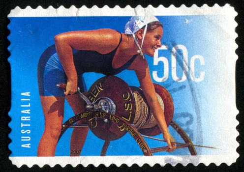 AUSTRALIA - CIRCA 2007: stamp printed by Australia, shows summer, circa 2007
