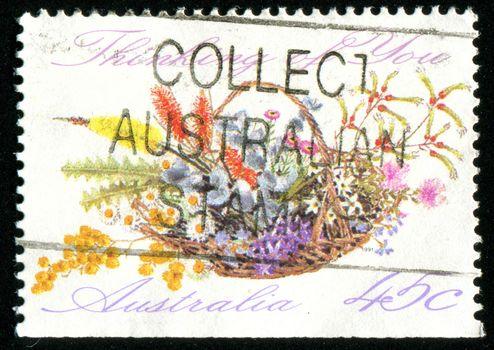 AUSTRALIA - CIRCA 1991: stamp printed by Australia, shows Booklet, circa 1991