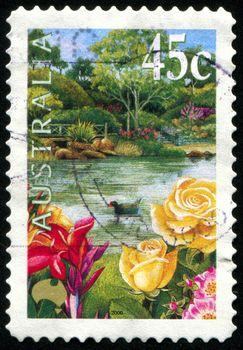 AUSTRALIA - CIRCA 2000: stamp printed by Australia, shows flowers in the garden, circa 2000