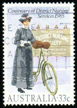 AUSTRALIA - CIRCA 1985: stamp printed by Australia, shows District Nursing Service Centenary, circa 1985