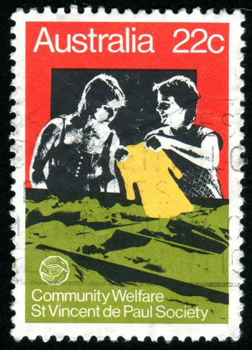 AUSTRALIA - CIRCA 1980: stamp printed by Australia, shows Two women, circa 1980