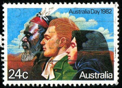 AUSTRALIA - CIRCA 1982: stamp printed by Australia, shows Australian people, circa 1982