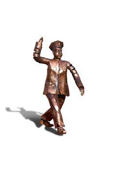 Bronze policeman monument