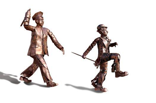 Charlie Chaplin bronze monument