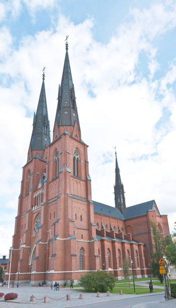 The famous Uppsala cathedral in Sweden - the largest church in Scandinavia