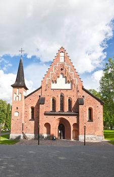 a church in a small town near uppsala in Sweden