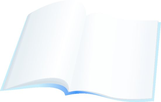 open notebook with clear pages