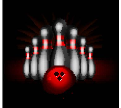 Bowling vector illustration isolated on black background