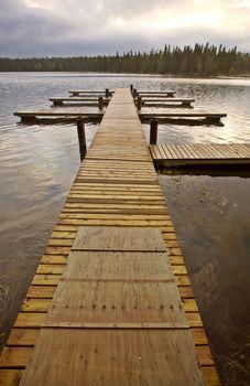 Docks at the Narrows Waskesui Saskatchewan