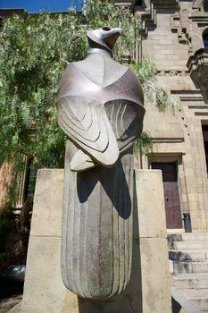 back eagle sculpture