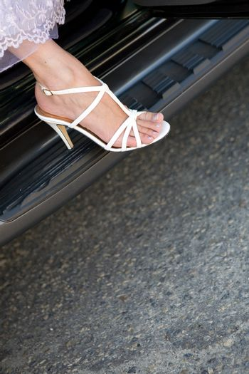 shoe on the car
