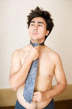 portrait in necktie